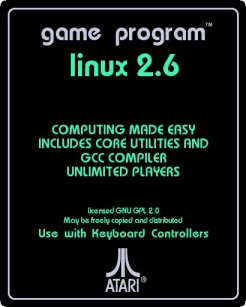 retro Atari Linux cartridge