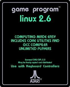 retro Atari Linux cartridge