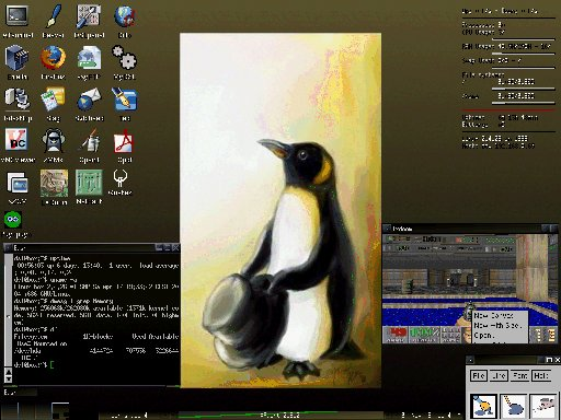 Damn Small Linux screen shot