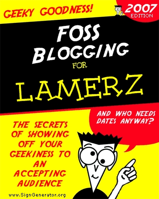 FOSS blogging for Dummies