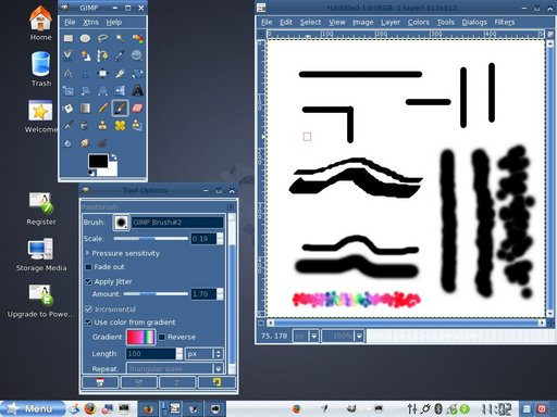 brushes screenshot