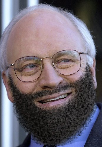 Dick Cheney with beard