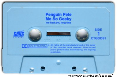 Penguin Pete cassette tape