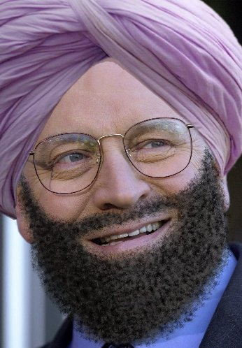 Dick Cheney with beard and turban